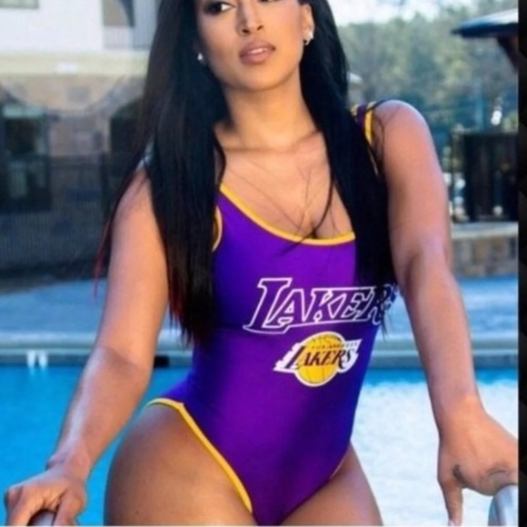 Official NBA LA Lakers one piece swimsuit